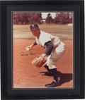 Baseball Collectibles:Photos, Pee Wee Reese Signed Oversized Photograph....
