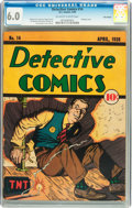 Golden Age (1938-1955):Crime, Detective Comics #14 Billy Wright pedigree (DC, 1938) CGC FN 6.0 Off-white to white pages....
