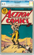 Golden Age (1938-1955):Superhero, Action Comics #5 Billy Wright pedigree (DC, 1938) CGC VG+ 4.5 Off-white to white pages....