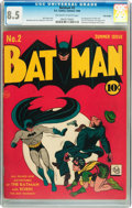 Golden Age (1938-1955):Superhero, Batman #2 Billy Wright pedigree (DC, 1940) CGC VF+ 8.5 Off-white to white pages....