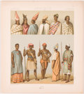Books:Prints & Leaves, 19th Century Color Lithos of African Dress, Tools, Weapons....