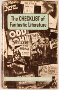 Books:Science Fiction & Fantasy, Everett F. Bleiler, editor. The Checklist of Fantastic Literature. A Bibliography of Fantasy, Weird and Science Fi...