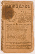 Books:Americana & American History, Nathanial Ames. An Astronomical Diary; Or, An Almanack For theYear of our Lord, 1773. Boston: R. Draper, et al., 17...