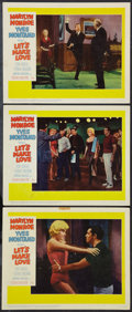 """Movie Posters:Comedy, Let's Make Love (20th Century Fox, 1960). Lobby Cards (3) (11"""" X 14""""), Uncut Pressbook (8 Pages, 13"""" X 16.5""""), and Advertisi... (Total: 6 Items)"""
