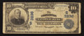 National Bank Notes:West Virginia, Charleston, WV - $10 1902 Plain Back Fr. 624 The Charleston NB Ch.# (S)3236. ...