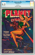 Golden Age (1938-1955):Science Fiction, Planet Comics #66 (Fiction House, 1952) CGC FN+ 6.5 White pages....