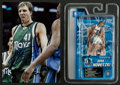 Basketball Collectibles:Others, Dirk Nowitzki Signed Photograph and Figurine. ...