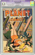Golden Age (1938-1955):Science Fiction, Planet Comics #53 (Fiction House, 1948) CGC Apparent FN- 5.5 Slight(P) Off-white pages....