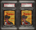 Non-Sport Cards:Unopened Packs/Display Boxes, 1958 Topps Argentina Zorro Unopened Paper Packs Pair (2). ...