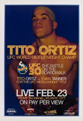 Boxing Collectibles:Autographs, Tito Ortiz Signed Poster....