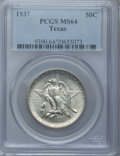 Commemorative Silver: , 1937 50C Texas MS64 PCGS. PCGS Population (427/1061). NGC Census:(218/845). Mintage: 6,571. Numismedia Wsl. Price for prob...