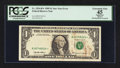 Fr. 1924-B* $1 1999 Federal Reserve Star Note. PCGS Apparent Extremely Fine 45