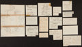 Baseball Collectibles:Others, Baseball Stars Signed Vintage Sheets Collection....