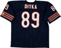 Football Collectibles:Balls, Mike Ditka Signed Football and Unsigned Chicago Bears Jersey....