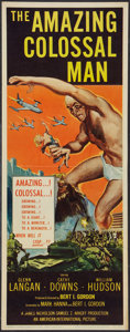 "Movie Posters:Science Fiction, The Amazing Colossal Man (American International, 1957). Insert(14"" X 36""). Science Fiction.. ..."