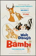 "Movie Posters:Animation, Bambi (Buena Vista, R-1975). One Sheet (27"" X 41""). Animation.. ..."