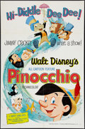 "Movie Posters:Animation, Pinocchio (Buena Vista, R-1962). One Sheet (27"" X 41""). Animation.. ..."