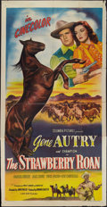 "Movie Posters:Western, The Strawberry Roan (Columbia, 1948). Three Sheet (41"" X 81""). Western.. ..."