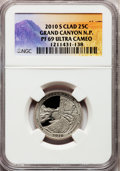 Proof National Parks Quarters, 2010-S 25C Grand Canyon National Park Clad PR69 Ultra Cameo NGC.PCGS Population (1008/221). (#418843)...
