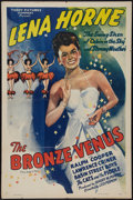 "Movie Posters:Black Films, The Bronze Venus (Toddy Pictures, R-1943). One Sheet (27"" X 41"").Black Films.. ..."