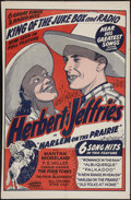 """Movie Posters:Black Films, Harlem on the Prairie (Toddy Pictures, R-1940s). One Sheet (27.5"""" X42""""). Black Films.. ..."""