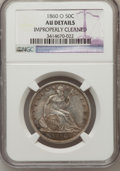 Seated Half Dollars: , 1860-O 50C -- Improperly Cleaned -- NGC Details. AU. NGC Census:(12/152). PCGS Population (21/148). Mintage: 1,290,000. Nu...