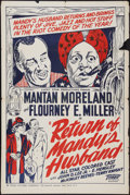"""Movie Posters:Black Films, The Return of Mandy's Husband (Toddy Pictures, 1948). One Sheet(28"""" X 42""""). Black Films.. ..."""