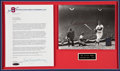 Baseball Collectibles:Photos, Ted Williams Signed Letter and Photograph Display. ...