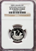 Proof Statehood Quarters, 2009-S 25C Northern Mariana Islands Silver PR70 Ultra Cameo NGC.NGC Census: (0). PCGS Population (458). Numismedia Wsl. P...