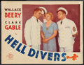 "Movie Posters:Adventure, Hell Divers (MGM, 1932). Lobby Card (11"" X 14""). Adventure.. ..."