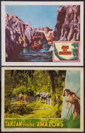 "Movie Posters:Adventure, Tarzan and the Amazons and Other Lot (RKO, 1945). Lobby Cards (2)(11"" X 14""). Adventure.. ... (Total: 2 Items)"