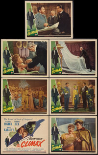 """The Climax (Universal, 1944). Title Lobby Card and Lobby Cards (6) (11"""" X 14""""). Horror. ... (Total: 7 Items)"""