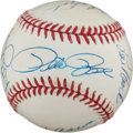 Baseball Collectibles:Balls, 3000 Hit Club Members Multi Signed Baseball (12 Signatures)....