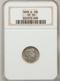 Barber Dimes: , 1893-O 10C VF35 NGC. NGC Census: (2/124). PCGS Population (9/135).Mintage: 1,760,000. Numismedia Wsl. Price for problem fr...