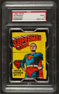 Non-Sport Cards:Unopened Packs/Display Boxes, 1966 Topps Superman Unopened Wax Pack PSA Mint 9. ...