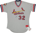 Baseball Collectibles:Uniforms, J.D. Drew Signed Cardinals Minor League Jersey....