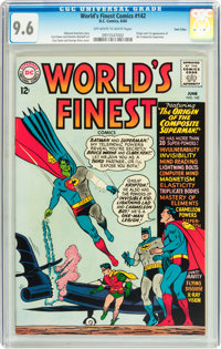 World's Finest Comics #142 Twin Cities pedigree (DC, 1964) CGC NM+ 9.6 Off-white to white pages