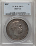 Coins of Hawaii: , 1883 $1 Hawaii Dollar XF45 PCGS. PCGS Population (140/252). NGCCensus: (48/178). Mintage: 500,000. (#10995)...