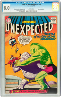 Tales of the Unexpected #40 (DC, 1959) CGC VF 8.0 Cream pages