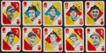 Baseball Cards:Sets, 1951 Topps Baseball Blue Backs Complete Set (52). ...
