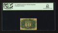 Fractional Currency:Second Issue, Fr. 1244SP 10¢ Second Issue Narrow Margin Back PCGS Apparent New 62.. ...