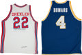 Basketball Collectibles:Uniforms, Clyde Drexler and Joe Dumars Signed Replica College Jerseys Lot of2....