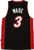 Basketball Collectibles:Uniforms, Dwyane Wade Signed Miami Heat Jersey....