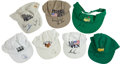 Golf Collectibles:Autographs, Golf Legends Signed Caps Lot of 7....