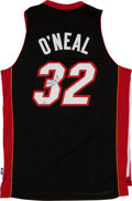 Basketball Collectibles:Uniforms, Shaquille O'Neal Signed Miami Heat Jersey....
