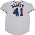 """Baseball Collectibles:Uniforms, Tom Seaver """"311 W's"""" Signed New York Mets Jersey. ..."""