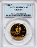 Modern Issues: , 1984-P G$10 Olympic Gold Ten Dollar PR69 Deep Cameo PCGS. PCGSPopulation (2217/38). NGC Census: (19/0). Mintage: 33,300. N...