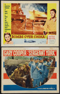 "Movie Posters:War, Sergeant York and Other Lot (Warner Brothers, 1941). Lobby Cards(2) (11"" X 14""). War.. ... (Total: 2 Items)"