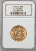 Liberty Eagles: , 1906-S $10 AU58 NGC. NGC Census: (183/240). PCGS Population(108/155). Mintage: 457,000. Numismedia Wsl. Price for problem ...
