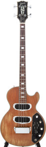 Musical Instruments:Bass Guitars, 1972 Gibson Les Paul Recording Bass Walnut Electric Bass Guitar, Serial # 106595. ...
